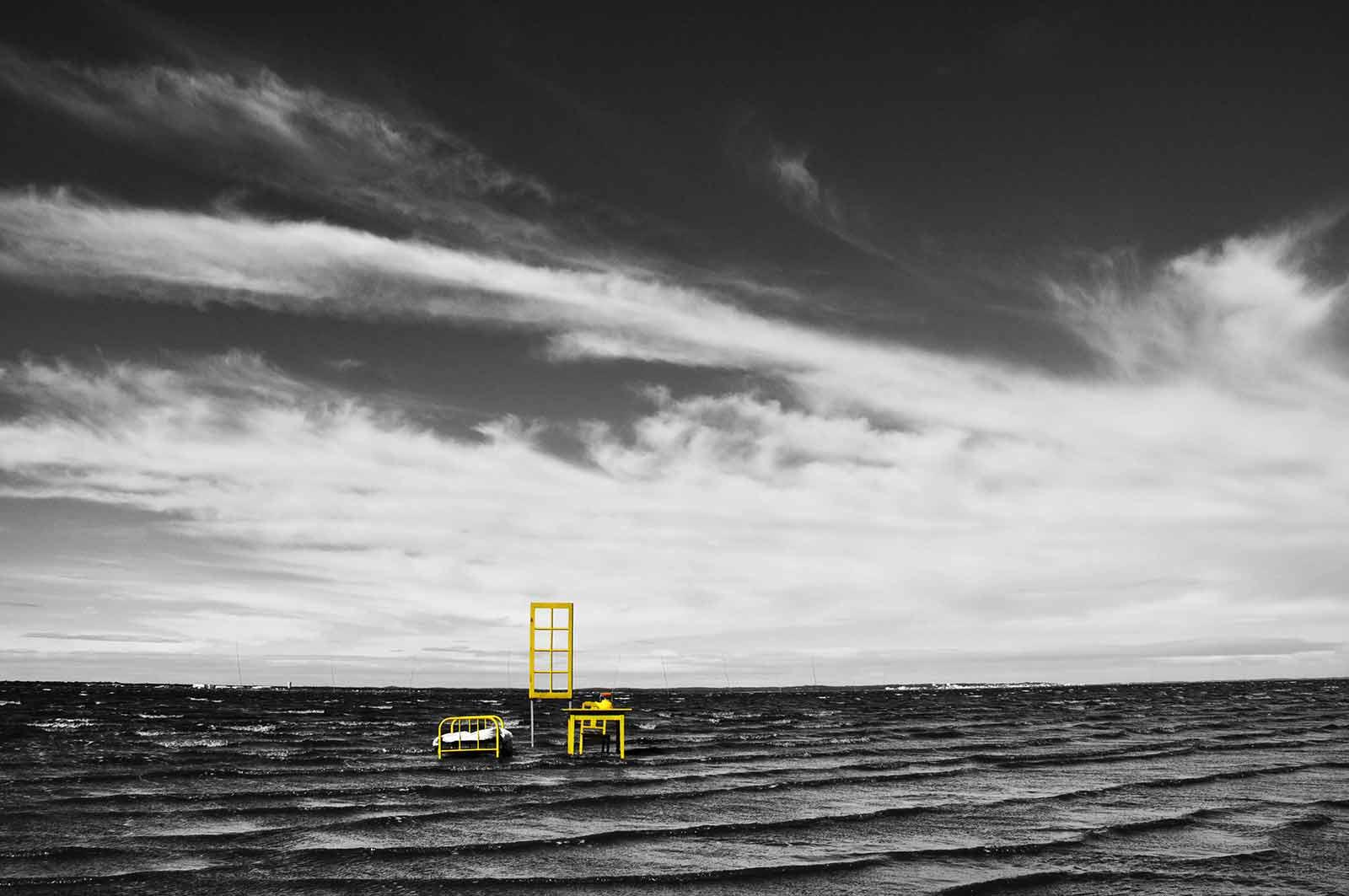 La chambre jaune – installation